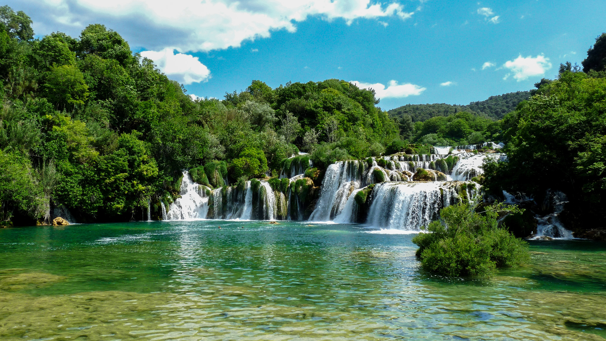 Croatia Krka National Park waterfalls