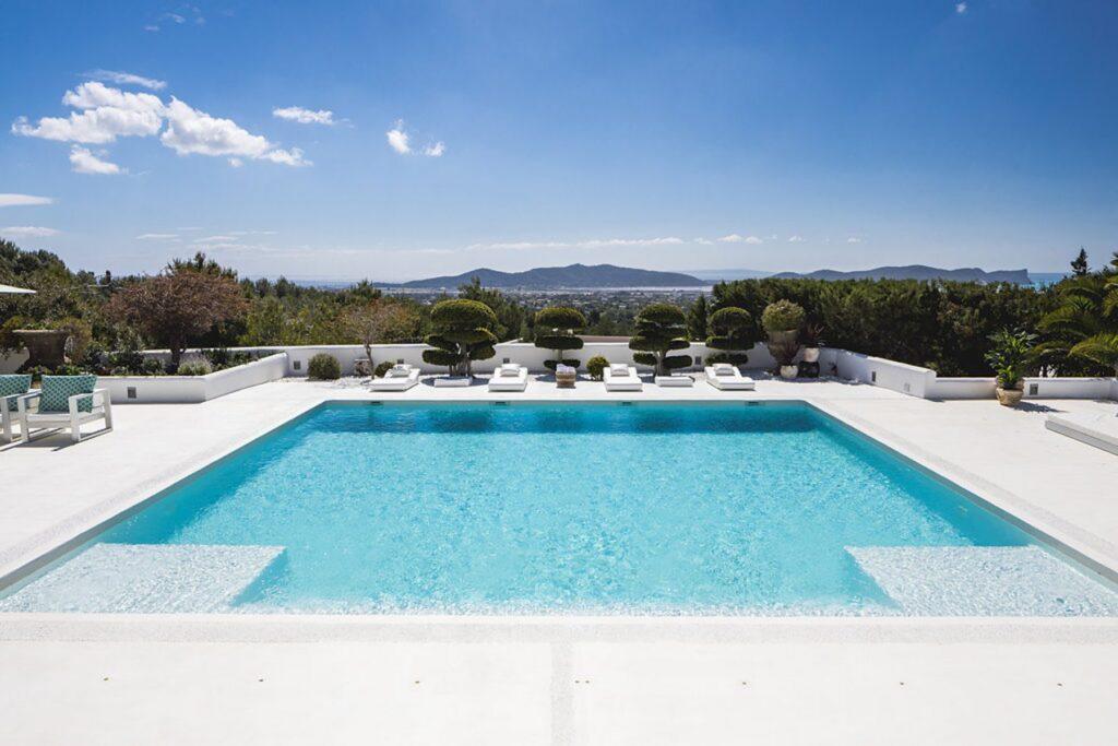 Villa pool view